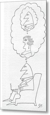 New Yorker June 30th, 1962 Metal Print by Saul Steinberg