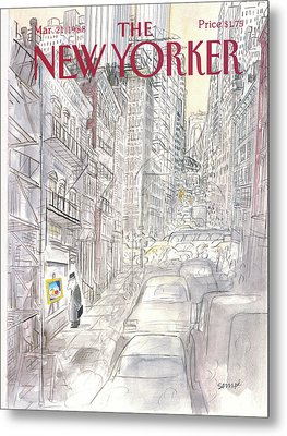 New Yorker March 21st, 1988 Metal Print