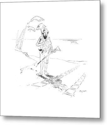 New Yorker May 30th, 1942 Metal Print by W. Heath Robinson