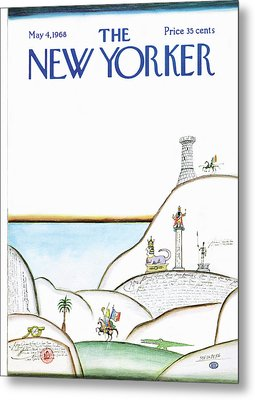 New Yorker May 4th, 1968 Metal Print by Saul Steinberg