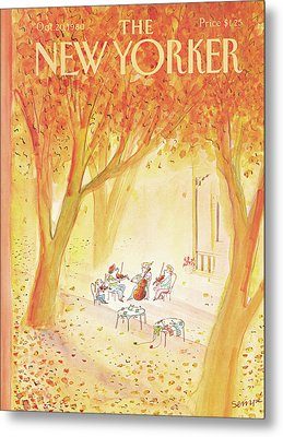 New Yorker October 20th, 1980 Metal Print by Jean-Jacques Sempe