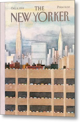 New Yorker October 8th, 1984 Metal Print by Charles E. Martin