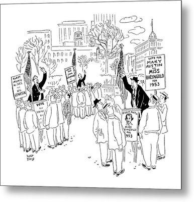 New Yorker September 20th, 1952 Metal Print by Robert J. Day