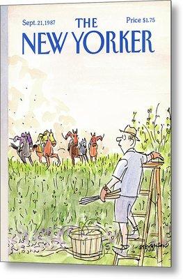 New Yorker September 21st, 1987 Metal Print by James Stevenson