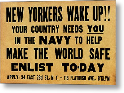 New Yorkers Wake Up Metal Print by God and Country Prints