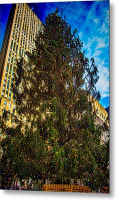 Metal Print featuring the photograph New York's Holiday Tree by Chris Lord