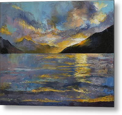 New Zealand Sunset Metal Print by Michael Creese