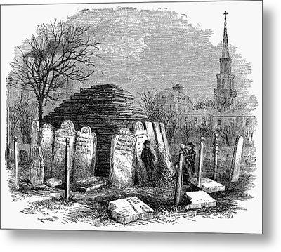Newark Cemetery, 1876 Metal Print by Granger