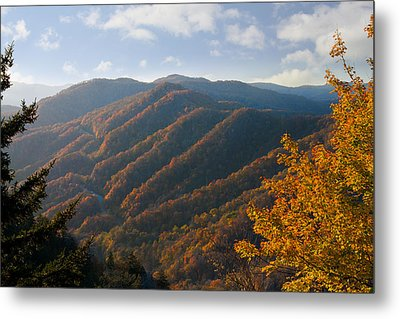 Newfound Gap Metal Print by Melinda Fawver