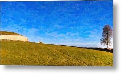 Newgrange - Ancient Observatory In Ireland Metal Print by Mark E Tisdale