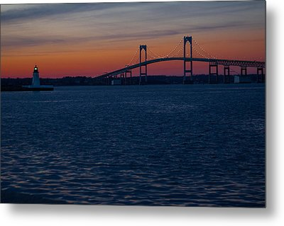 Newport At Sunset Metal Print by Robert  Torkomian