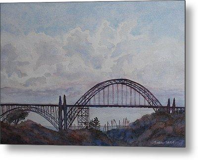 Newport Bay Bridge I Metal Print by Jenny Armitage