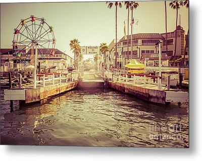 Newport Beach Balboa Island Ferry Dock Photo Metal Print by Paul Velgos
