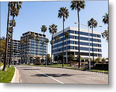 Newport Beach Office Buildings Orange County California Metal Print by Paul Velgos