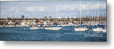 Newport Beach Panorama Metal Print by Paul Velgos