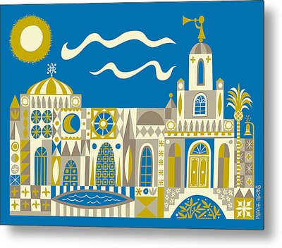 Newport Beach Temple Metal Print by Parker  Jacobs