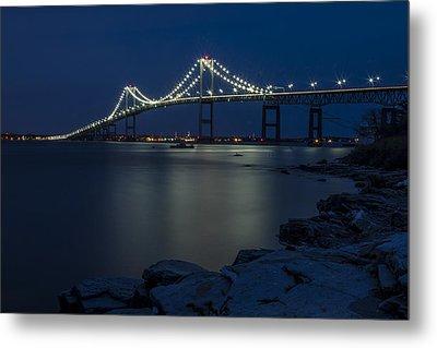 Newport Bridge Metal Print by Dave Cleaveland