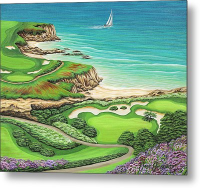 Newport Coast Metal Print by Jane Girardot