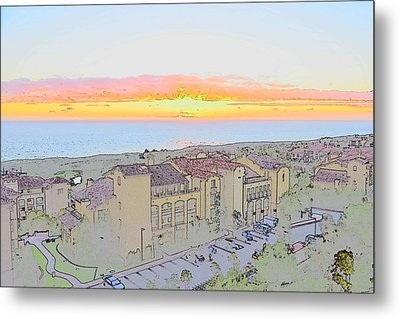 Newport Coast Sunset Metal Print by Penny Lisowski