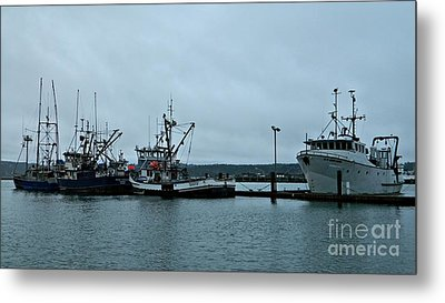 Newport Fishing Boats Metal Print