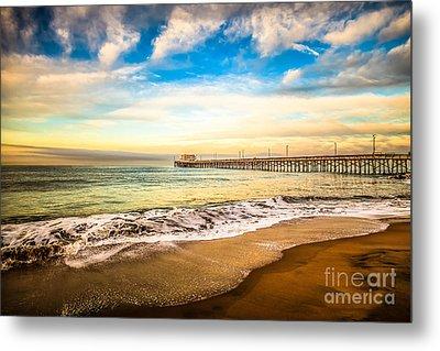 Newport Pier Photo In Newport Beach California Metal Print