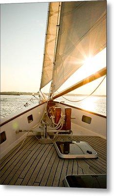 Newport Sail Metal Print by Allan Millora Photography