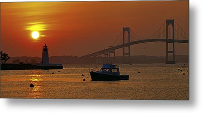 Newport Sunset Metal Print by Lou Ford