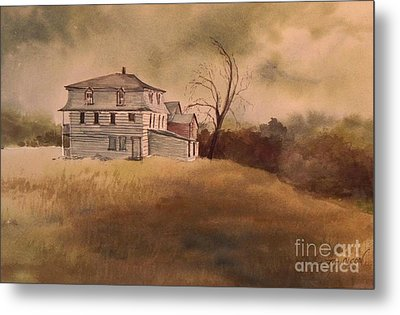 Metal Print featuring the painting Newport Vermont by Joy Nichols