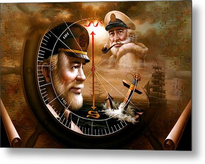 Imperishable Two Map Captain 3 Metal Print