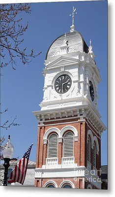 Newton County Courthouse Metal Print by Cathy Lindsey