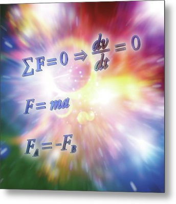 Newton's Laws Of Motion Metal Print