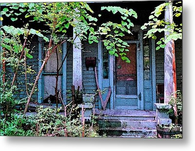 Next Door To Aunt Agnes Metal Print by Patricia Greer