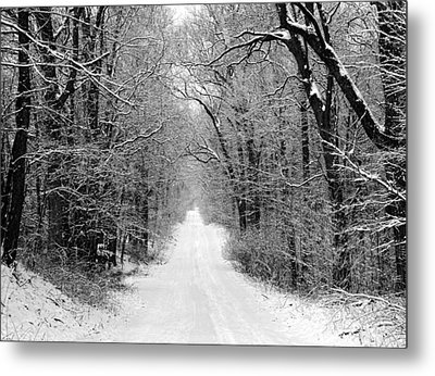 Next Stop In Winter Metal Print by John Crothers