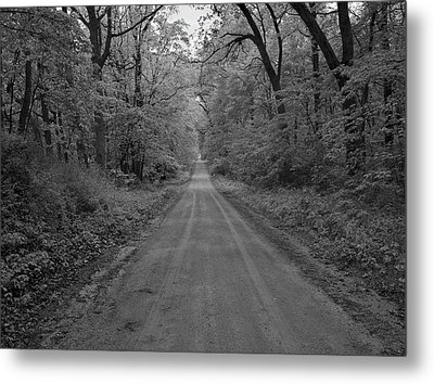Next Stop..middle Of Nowhere Metal Print by John Crothers