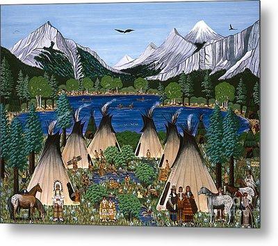 Nez Perce Wallowa Lake Metal Print