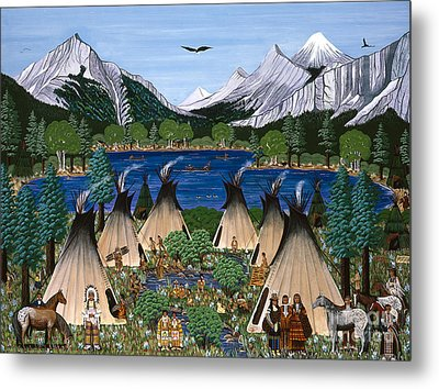 Nez Perce Wallowa Lake Metal Print by Jennifer Lake