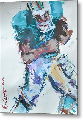 Nfl Football Painting Metal Print