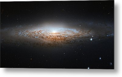 Ngc 2683 Spiral Galaxy Metal Print by Celestial Images