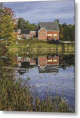 Metal Print featuring the photograph Nh Farm Reflection by Betty Denise
