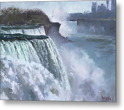 Niagara American Falls Metal Print by Ylli Haruni