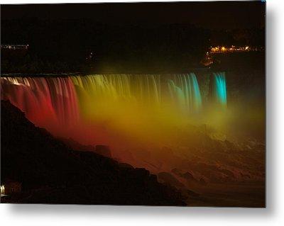 Niagara Falls A Glow Metal Print by Dave Files