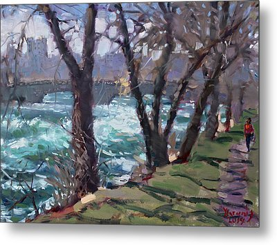 Niagara Falls River April 2014 Metal Print by Ylli Haruni