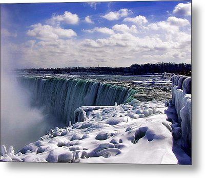 Niagara Falls Winter Metal Print by Nicky Jameson