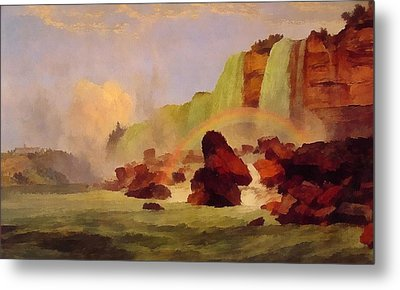 Niagara Falls With View Of Clifton House Metal Print by Jasper Francis
