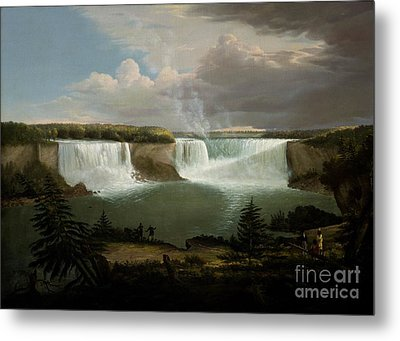 Niagra Falls By Alvan Fisher Metal Print
