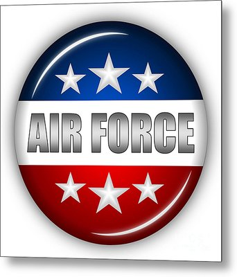 Nice Air Force Shield Metal Print by Pamela Johnson