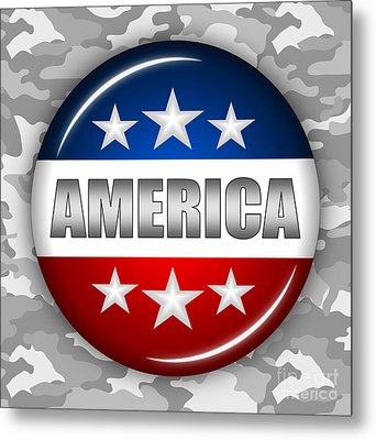 Nice America Shield 2 Metal Print by Pamela Johnson