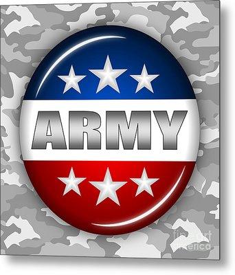 Nice Army Shield 2 Metal Print by Pamela Johnson