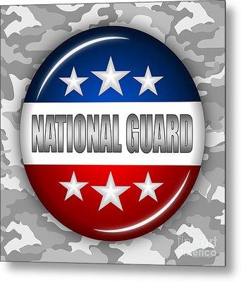 Nice National Guard Shield 2 Metal Print by Pamela Johnson