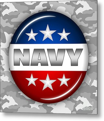 Nice Navy Shield 2 Metal Print by Pamela Johnson